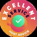 当社は全ての会社のカスタマーサービスを1つ1つ個人的かつ匿名で時間を掛けてチェックしました。 HostAdvice の高いカスタマーサービスの基準に適合したホスティング会社には「優秀のバッジ」を授与しました。これは、サービスが迅速で効率的、判断力に優れ、何よりも役立つものであることを意味します。