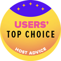 ウェブホスティングベスト10に入っていて、ユーザー評価も高い会社に贈られます
